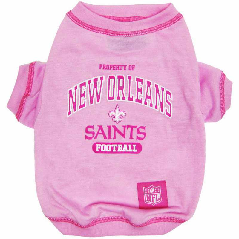 NEW ORLEANS SAINTS Pink Pet T-Shirt