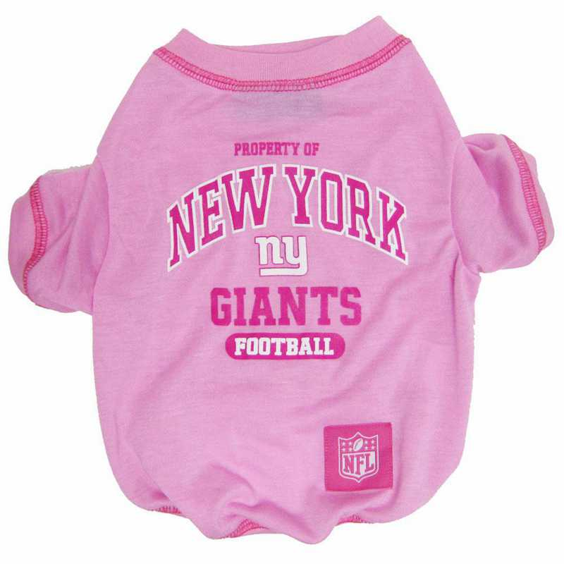 NEW YORK GIANTS Pink Pet T-Shirt