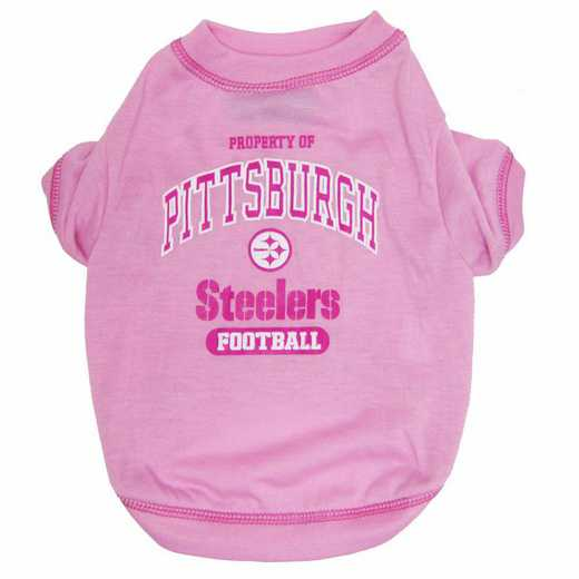 PITTSBURGH STEELERS Pink Pet T-Shirt