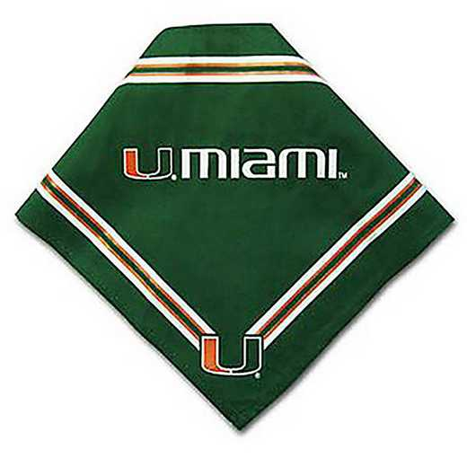 MIA-4058-SM: U OF MIAMI BANDANA