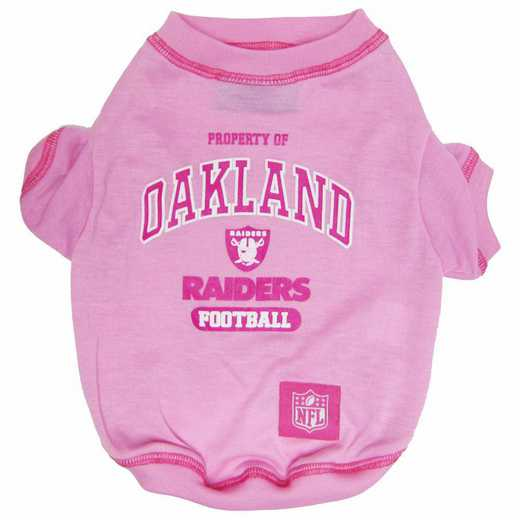 OAK-4016-LG: OAKLAND RAIDERS PINK TEE SHIRT