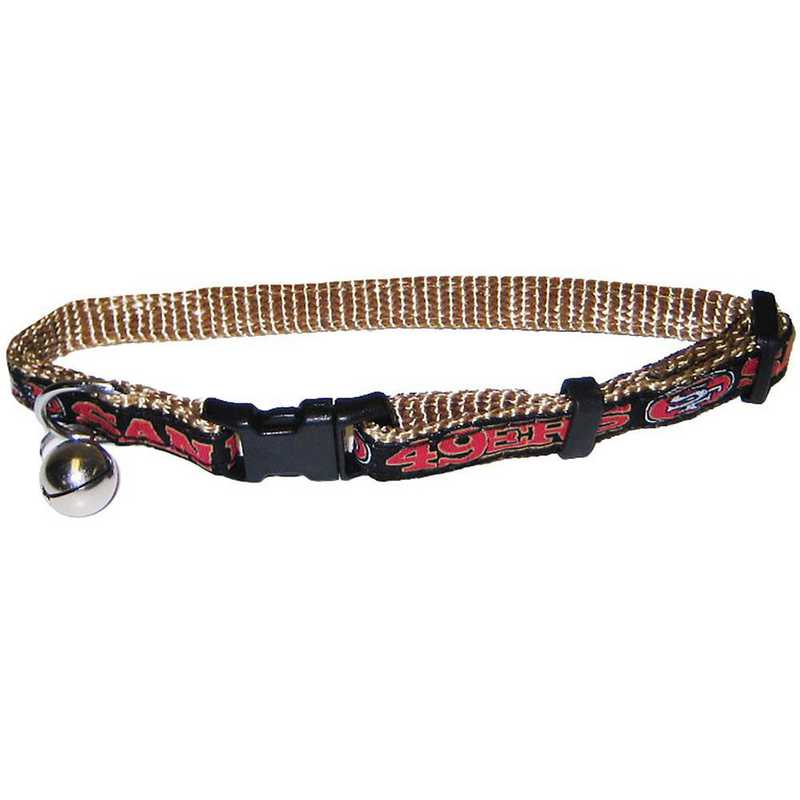SAN-5010: SAN FRANCISCO 49ERS CAT COLLAR