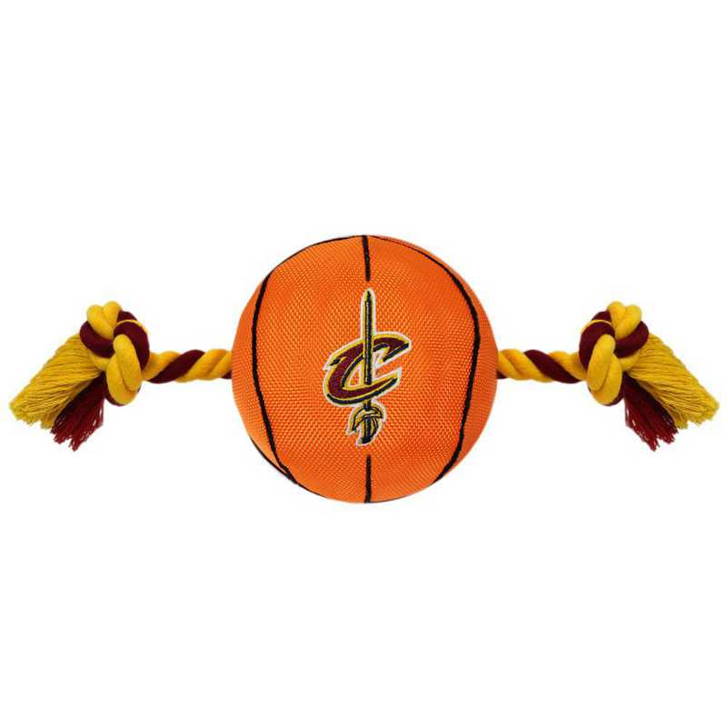 CAV-3105: CLEVELAND CAVALIERS NYLON BASKETBALL ROPE TOY