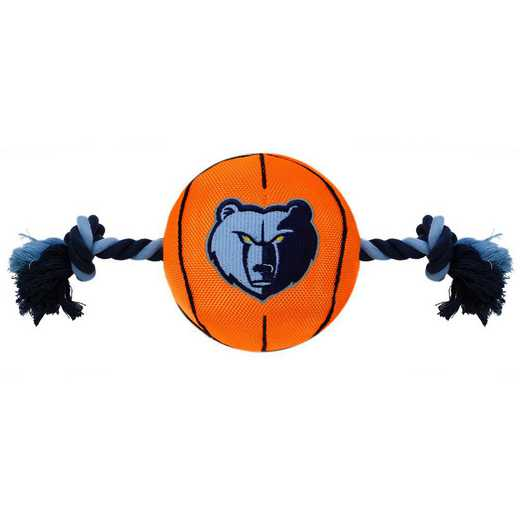 GRZ-3105: MEMPHIS GRIZZLIES NYLON BASKETBALL ROPE TOY