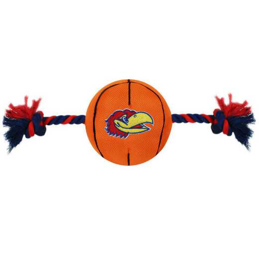 KU-3105: KANSAS NYLON BASKETBALL ROPE TOY