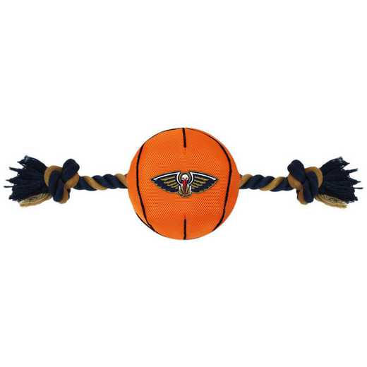 NOP-3105: NEW ORLEANS PELICANS NYLON BASKETBALL ROPE TOY
