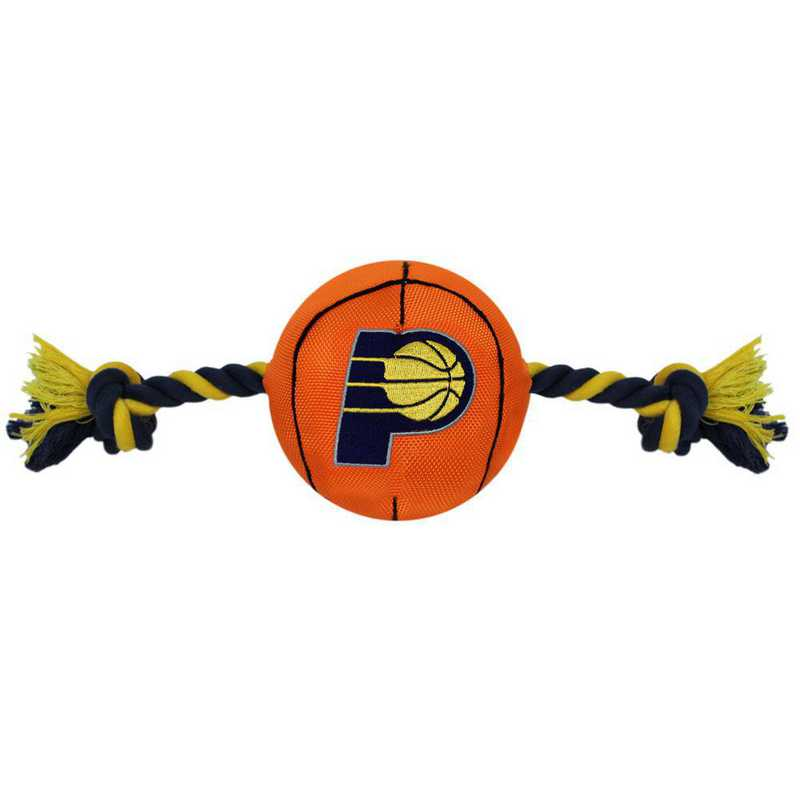 PAC-3105: INDIANA PACERS NYLON BASKETBALL ROPE TOY