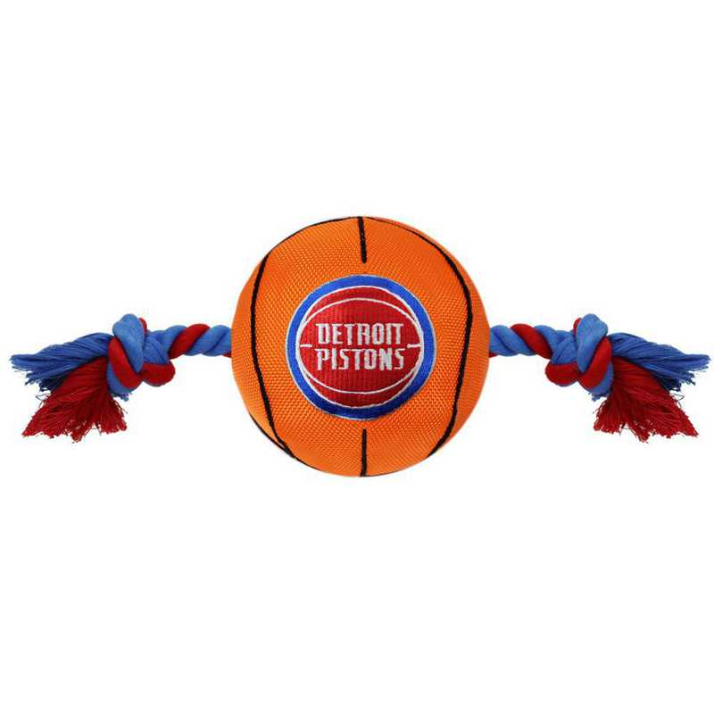 PST-3105: DETROIT PISTONS NYLON BASKETBALL ROPE TOY