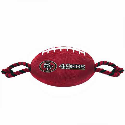 SAN-3121: SAN FRANCISCO 49ERS NYLON FOOTBALL