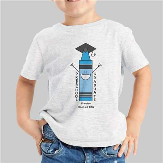 Blue Graduation T-shirt grey