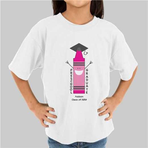 Pink Graduation T-Shirt White