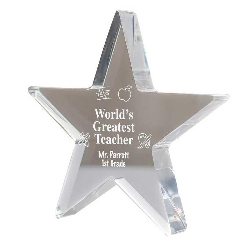 330257: PGS Engraved Teacher Star Keepsake