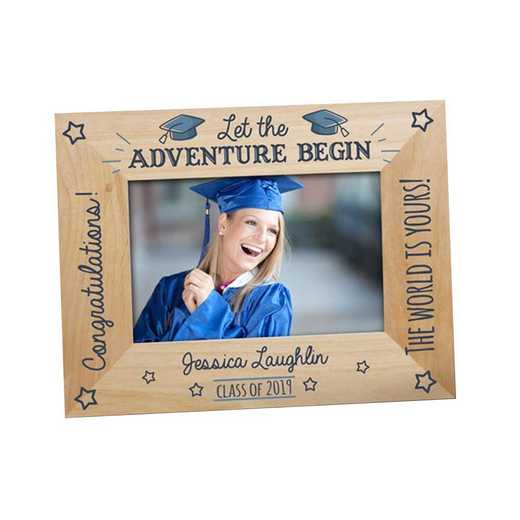 9126251: PGS Engraved Let The Adv Wood Picture Frame, 4x6