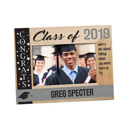 9126261CG: PGS Engraved class Of  wood Frame Grey, 4x6