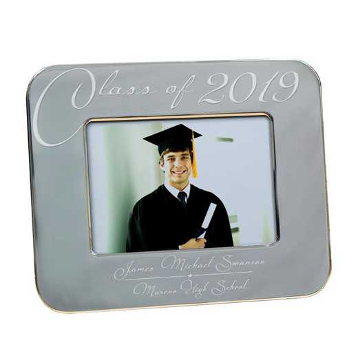 M588621: PGS Engraved Grey Class Of Grad Frame 4x6