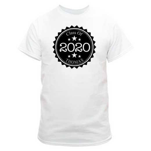 Class Of Graduation T-Shirt White with Black Design