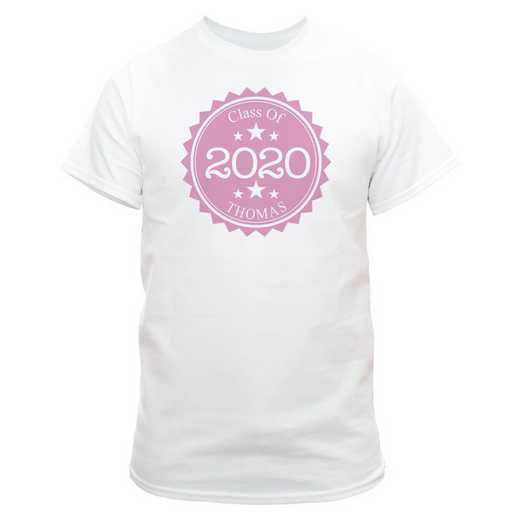 Class Of Graduation T-Shirt White with Pink Design