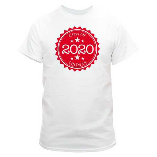 Class Of Graduation T-Shirt White  with Red Design