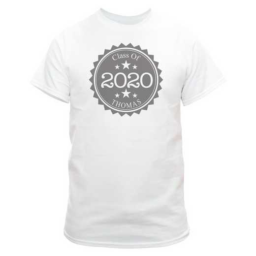 Class Of Graduation T-Shirt White with Silver Design