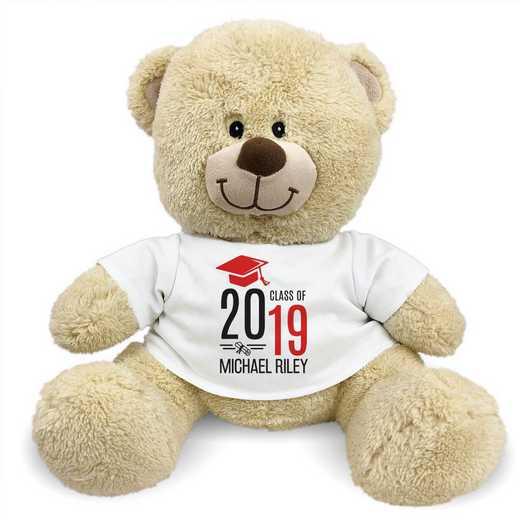 """8314007B13RD: PGS Bear Grad Cap 13"""" Red"""