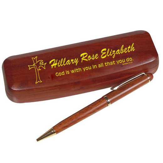 722060: PGS Religious Rosewood Pen Set