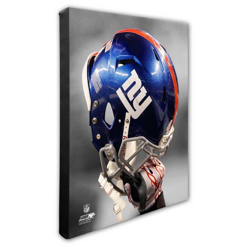 AAPC194-CS16x20: PF New York Giants Team Helmet Photography- 16x20