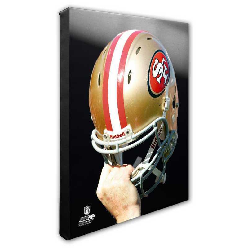 AAPC241-CS16x20: PF San Francisco 49ers Helmet Photography- 16x20