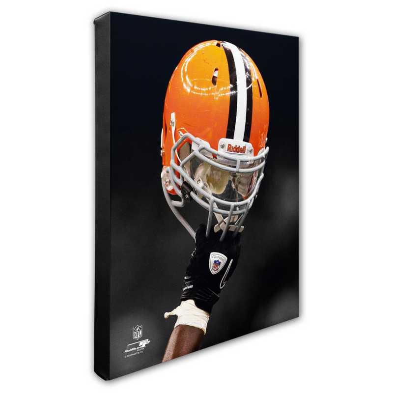 AARK157-CS16x20: PF Cleveland Browns Team Helmet Photography- 16x20