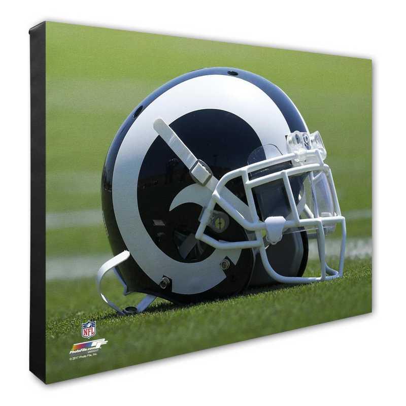 AAUK032-CS16x20: PF Los Angeles Rams Team Helmet Photography- 16x20