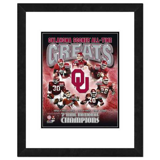 AAQH017-FH20x24: PF Oklahoma Sooners All Time Greats Composite- 22x26