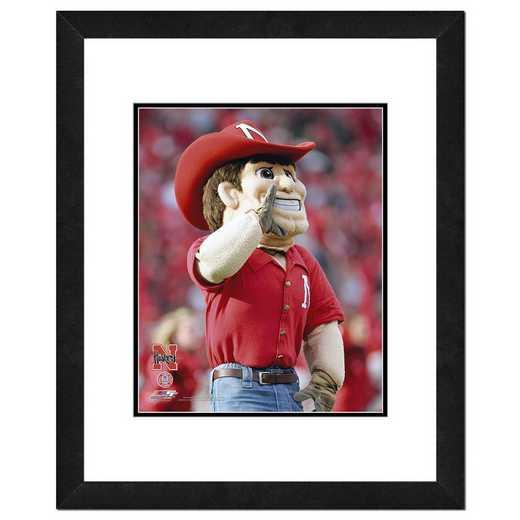 AAIR176-FH16x20: Univ of Nebraska - Herbie Husker, Cornhuskers Mascot, 18x22