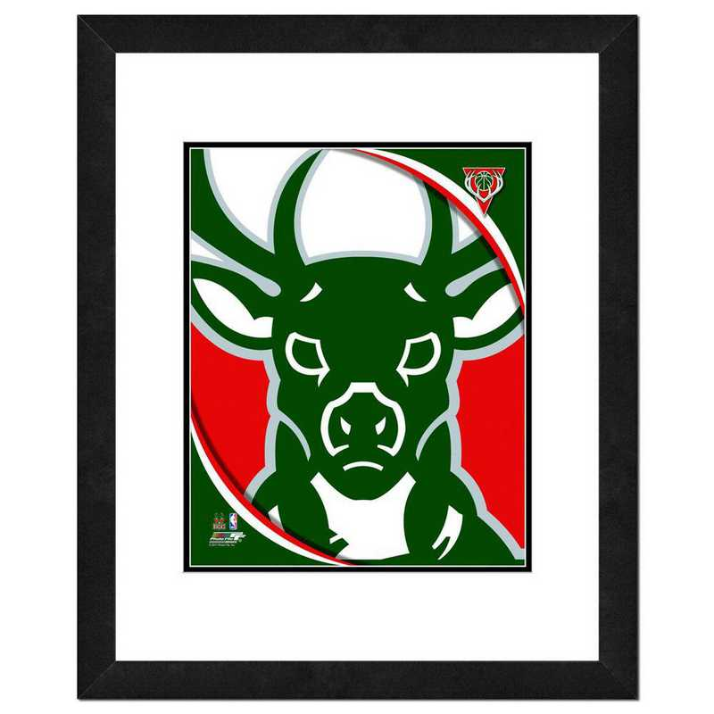 AANP192-FH16x20: PF Milwaukee Bucks Logo Photography, 18x22