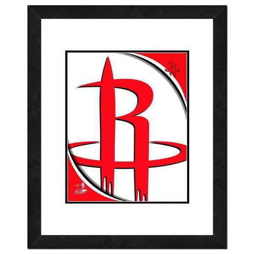 AANP196-FH16x20: PF Houston Rockets Logo Photography, 18x22