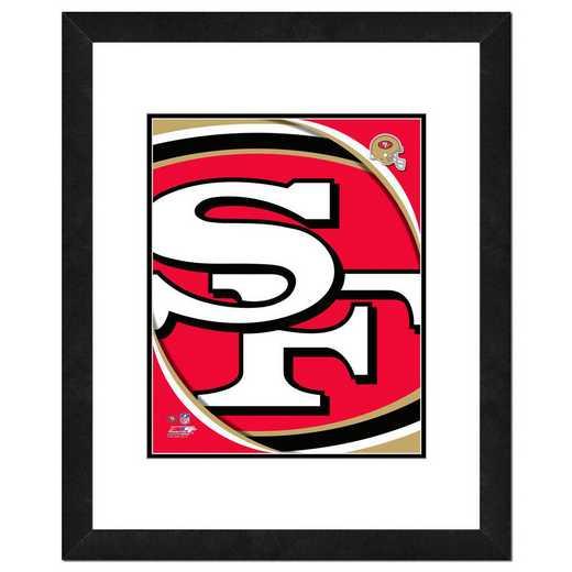 AANR063-FH16x20: PF San Francisco 49ers Logo Photography, 18x22