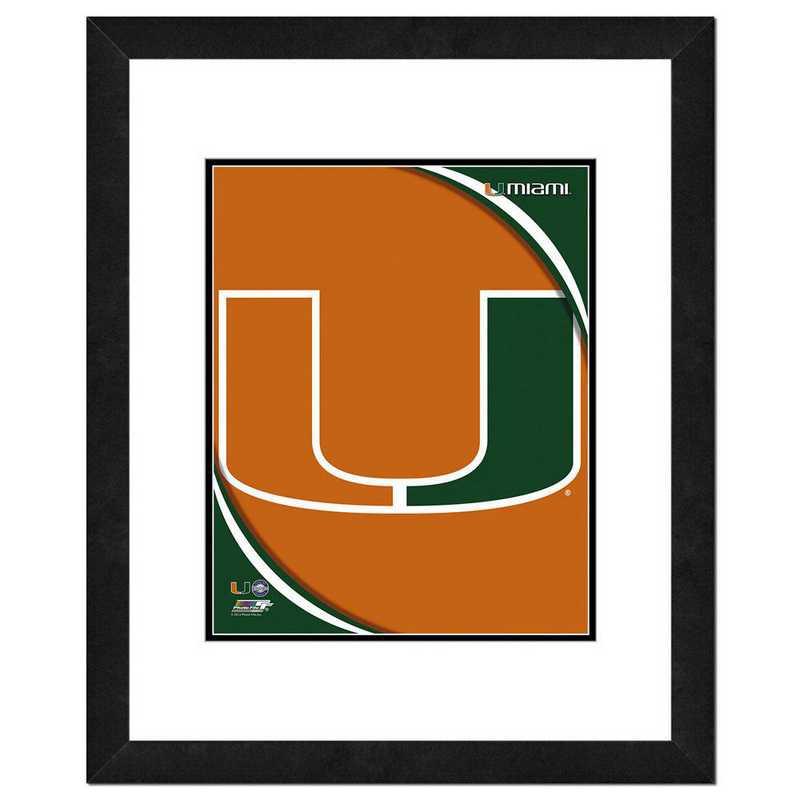 AAOK090-FH16x20: PF University of Miami Hurricanes Team Logo, 18x22