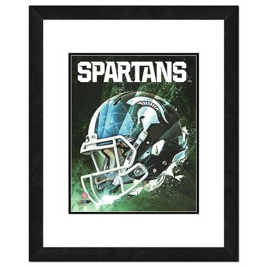 AARW049-FH16x20: PF Michigan State Spartans Helmet Composite, 18x22