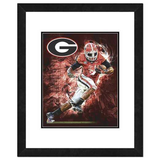 AARZ144-FH16x20: PF University of Georgia Bulldogs Player Composite, 18x22