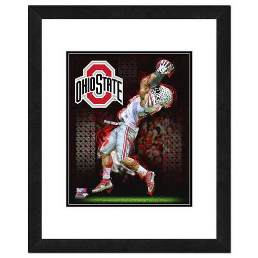 AASO131-FH16x20: PF Ohio State Buckeyes Player Composite, 18x22