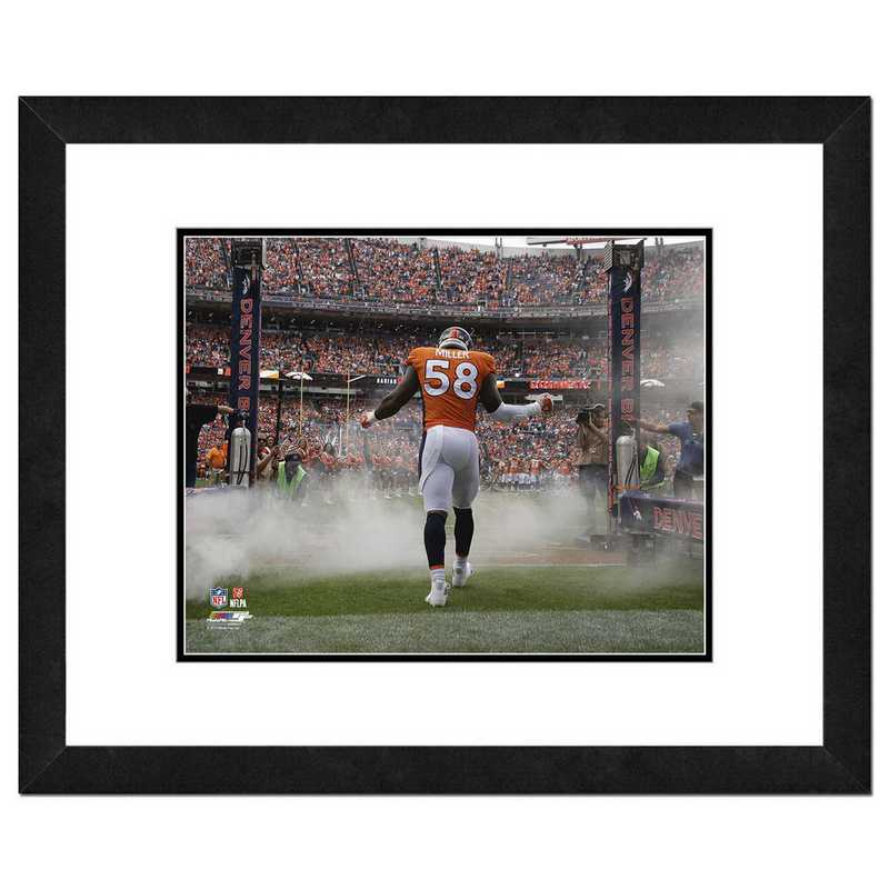 AAUN086-FH16x20: PF Von Miller Action Photography, 18x22