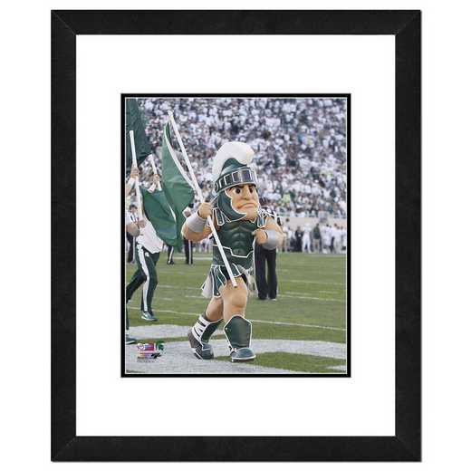 AAUN225-FH16x20: PF Sparty, The Michigan State Univ Spartans Mascot, 18x22