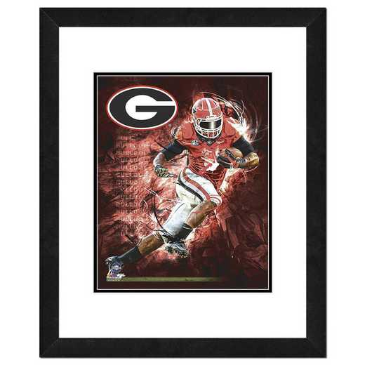 AARZ144-FH20x24: PF University of Georgia Bulldogs Player Composite- 22x26
