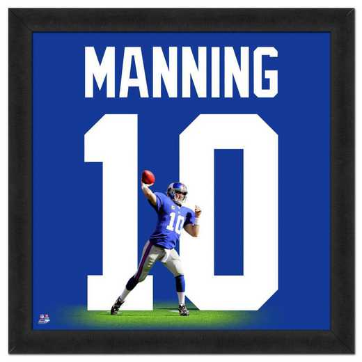 "AAOF130-FG13x13: ELI MANNING- GIANTS UNIFRAME 20"" x 20"""