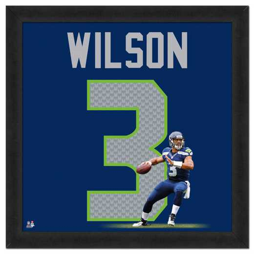 "AAPJ192-FG13x13: RUSSELL WILSON- SEAHAWKS UNIFRAME 20""x20"""