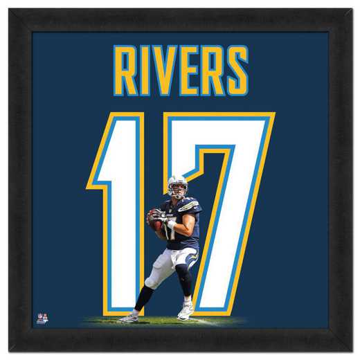 "AAQF081-FG13x13: PHILIP RIVERS- CHARGERS UNIFRAME 20"" x 20"""