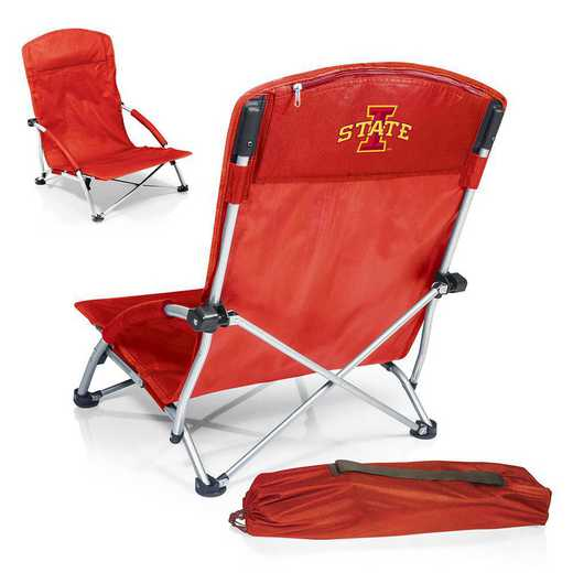 792-00-100-234-0: Iowa State CyclonesTranquility Portable Beach ChairRED