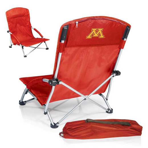 792-00-100-364-0: Minnesota Golden GophersTranquility Portable Beach ChairRED