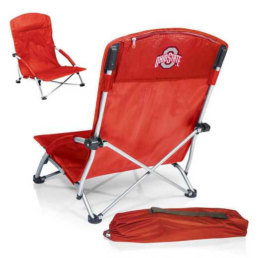 792-00-100-444-0: Ohio State BuckeyesTranquility Portable Beach ChairRED