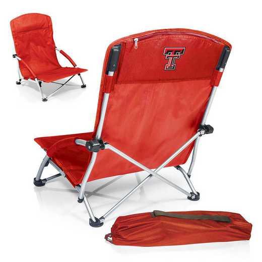 792-00-100-574-0: Texas Tech Red RaidersTranquility Portable Beach ChairRED