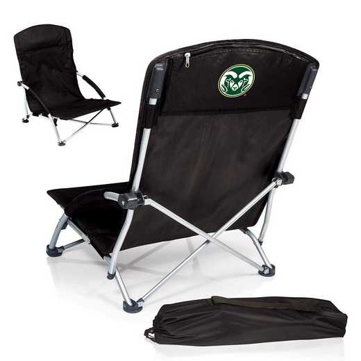 792-00-175-134-0: Colorado State RamsTranquility Portable Beach ChairBLK