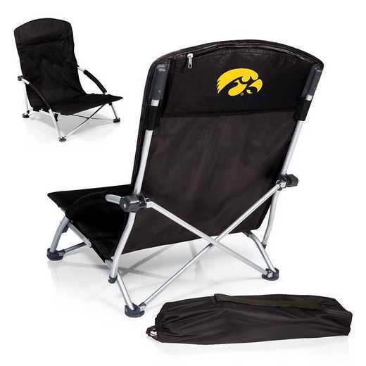 792-00-175-224-0: Iowa HawkeyesTranquility Portable Beach ChairBLK